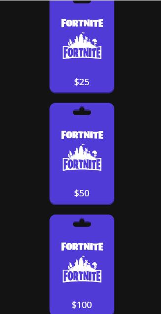 fortnite gift card value