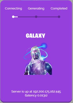 galaxy skin generator process