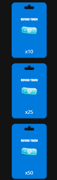 choose amount of free refund tokens fortnite