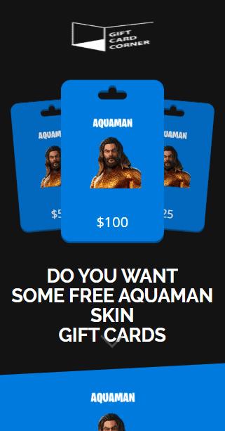 aquaman skin generator