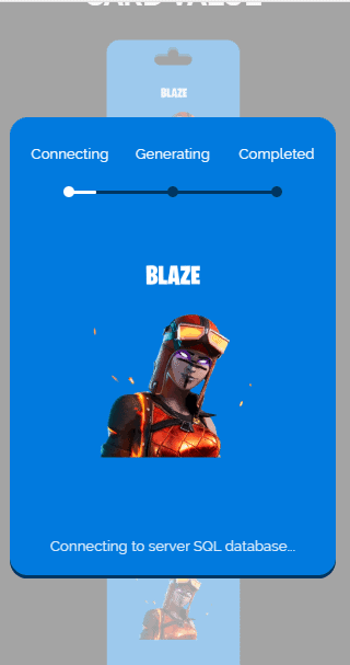 blaze skin process