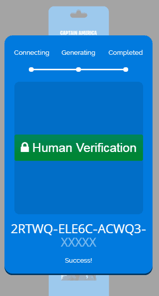 captain america verification