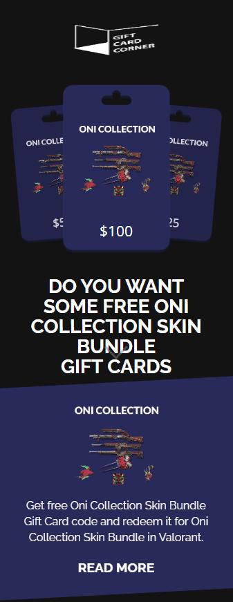 oni collection generator