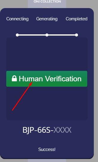 oni collection verification