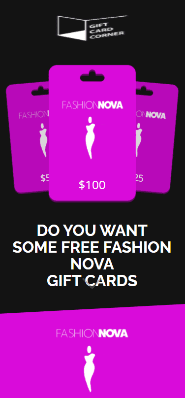 fashion nova gift card generator