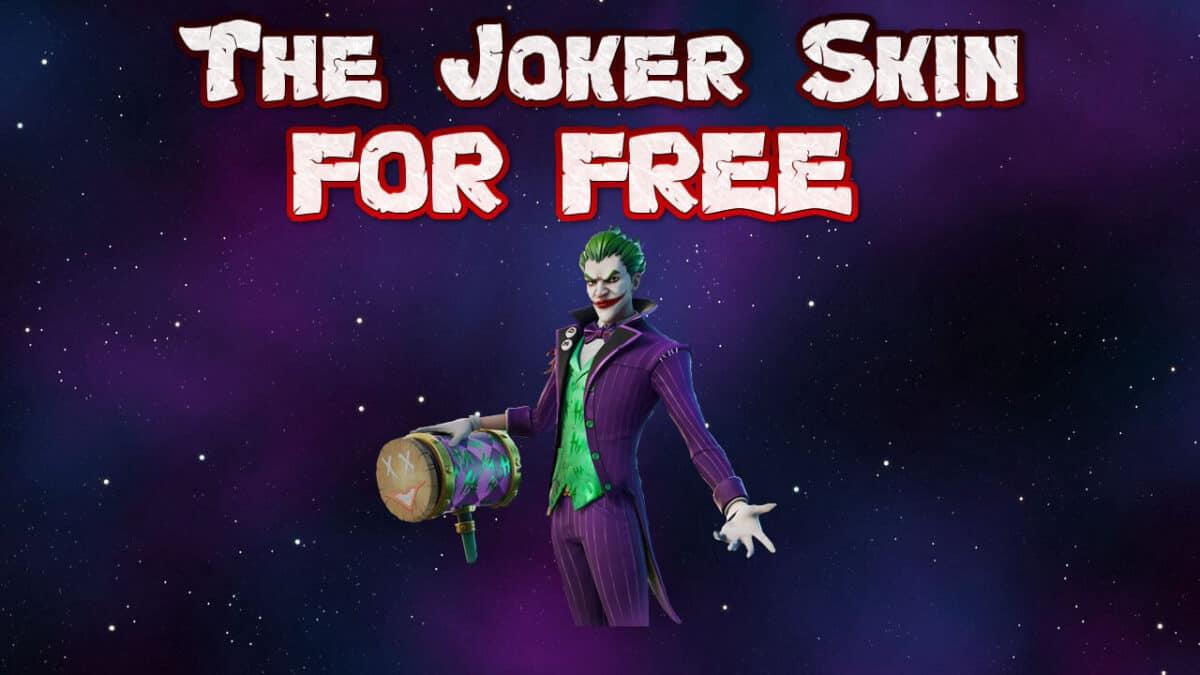 free joker skin fortnite