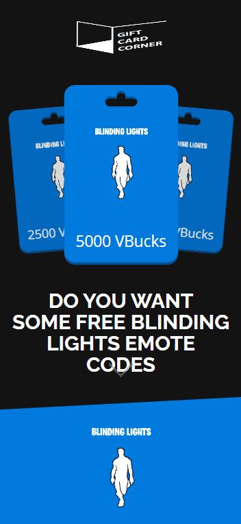 blinding lights emote generator