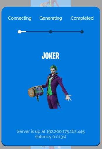 joker skin generating