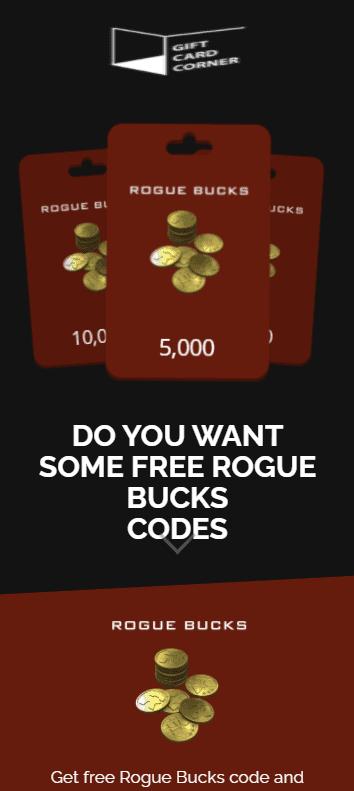 rogue bucks code generator