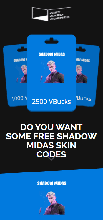 Shadow Midas skin code generator.