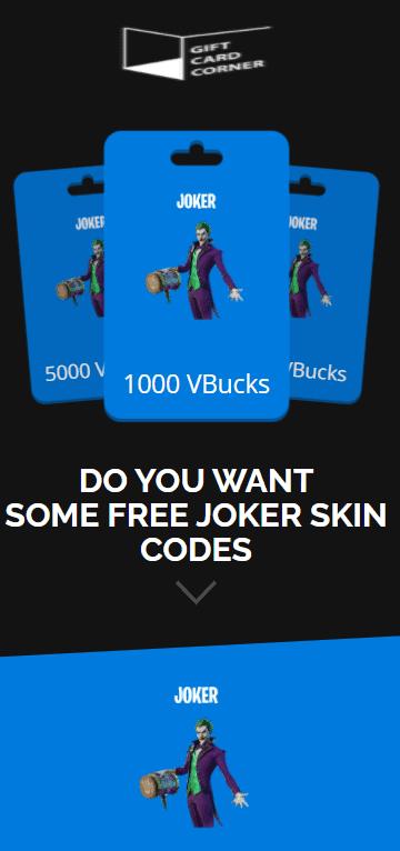 the joker skin generator