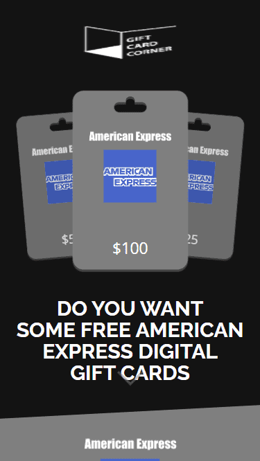 This is what the American Express Digital Gift Card Code generator looks like.