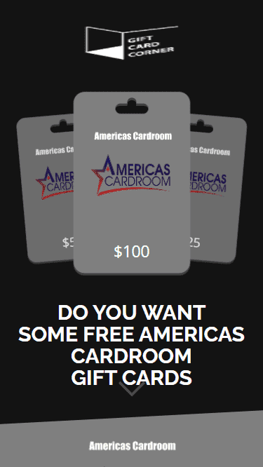 A generator for the Americas Cardroom promo code is shown.