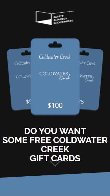 When you enter the generator for the Coldwater Creek gift card you see this.