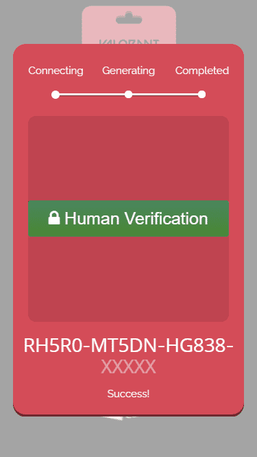 The part where verification is required to obtain a free Valorant codes.