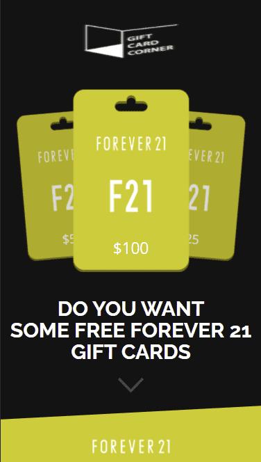 Forever 21 Gift Card Generator.