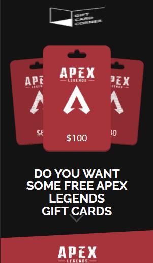 Apex Legends Gift Card Generator.